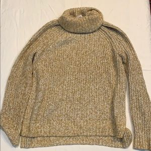 Old navy cowl neck gold knitted sweater